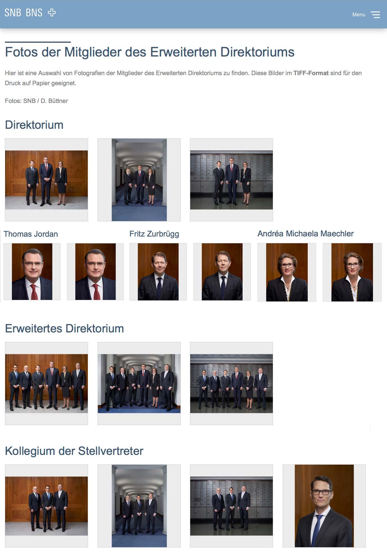Fotos Dominic Büttner Schweizerische Nationalbank